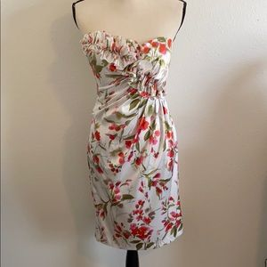 Maggy London Floral Strapless Midi Dress - NWT